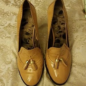Sam Edelman mustard tassel heels